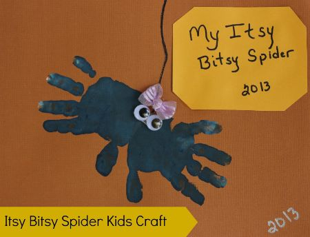09 - Sisters Saving Cents - Handprint Itsy Bitsy Spider