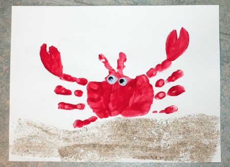 19 - Puppy Dog Tails - Handprint Crab