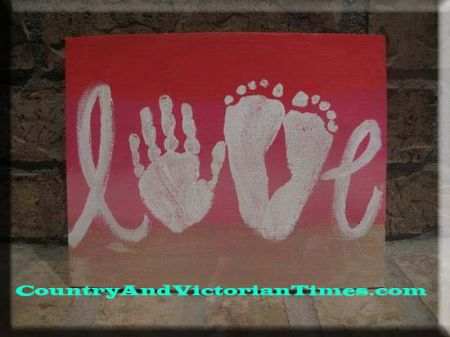 21 - Country and Victorian Times - Hand and Footprint Love Sign