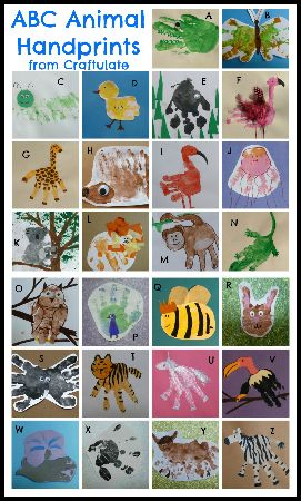 23 - Craftulate - ABC Animal Handprints