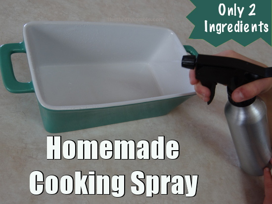 homemade cooking spray