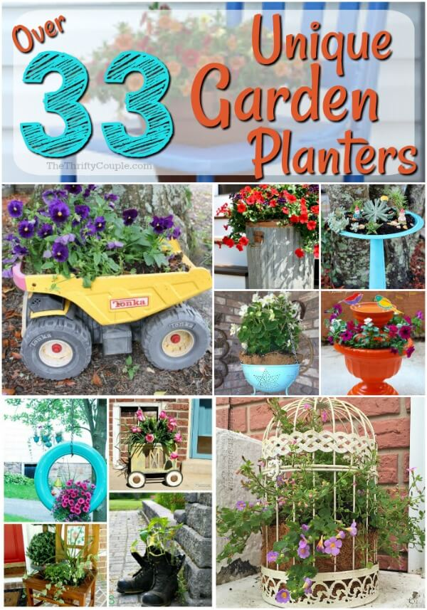 Over 33 Unique Garden Planter Ideas Reusing Items
