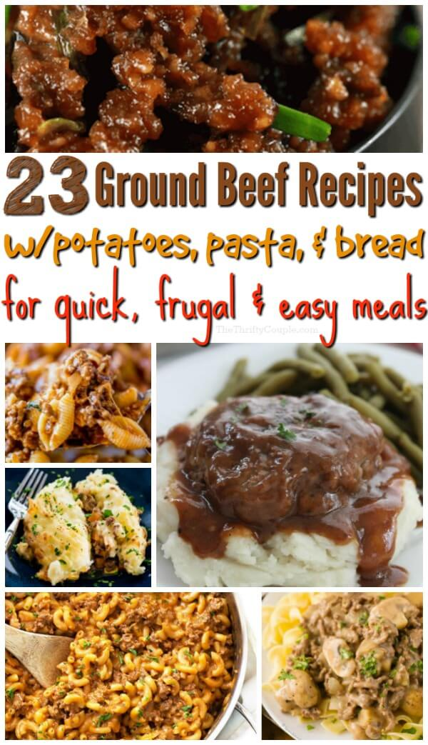 ground beef recipes with potatoes or pasta