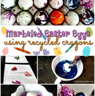 Marbled Easter Eggs – Made With Recycled Crayons!